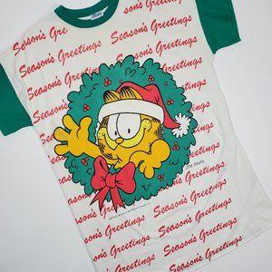 Vintage 1978 Garfield Christmas Sleep Tee Shirt OS